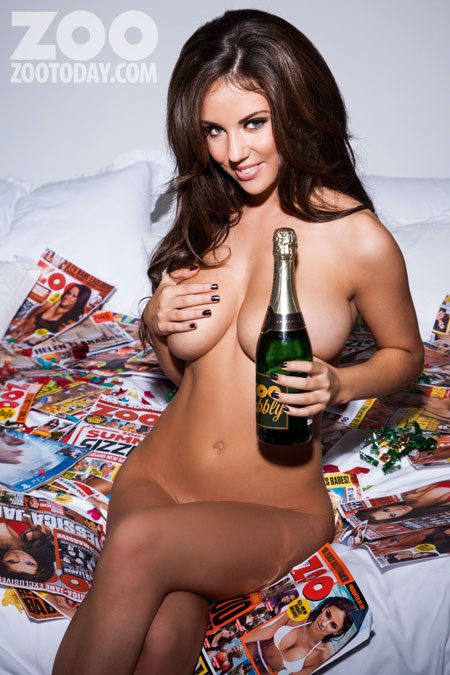Image: ZooToday My interview with glamour model Rachel Williams (above) was the most viewed blog post.
