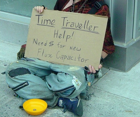 Homeless time traveller